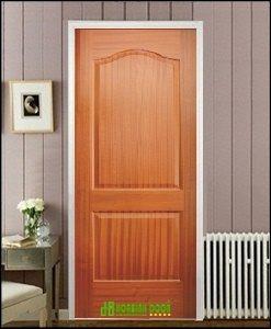 Cửa gỗ công nghiệp HDF veneer giá tốt KD.2A-SAPELE