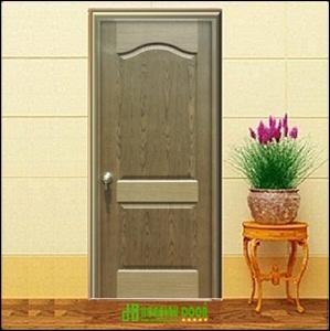 Cửa gỗ công nghiệp HDF veneer giá rẻ KD.2A-WALNUT