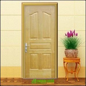 Cửa gỗ công nghiệp HDF veneer Bình Thạnh KD.5A-ASH