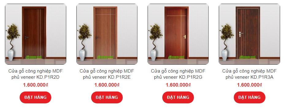 Cửa gỗ công nghiệp tại Ninh Thuận
